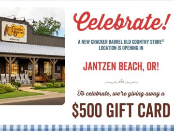 Win a $500 Cracker Barrel Old Country Store Gift Card