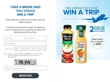 Minute Maid and Simply Orange Instant Win Game