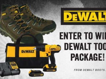Win a Pair of Dewalt Boots and a Tool Set