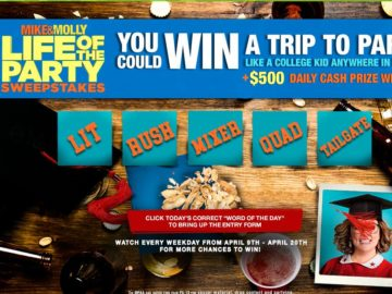 Mike & Molly Life of the Party Sweepstakes (Word of the Day)