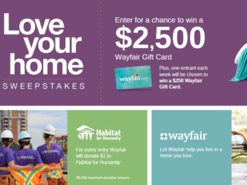 Gift card sweepstakes 2018