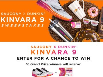Saucony x Dunkin' Sweepstakes
