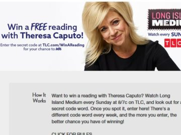 TLC Long Island Medium Reading with Theresa Sweepstakes (Watch and Win)