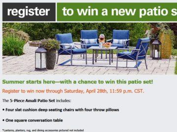 Win an Amali Patio Set (Facebook)