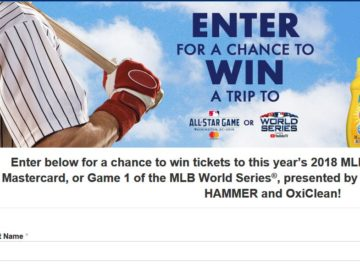 MLB.com Clean Up and Win Sweepstakes