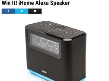 Win an iHome Alexa Speaker