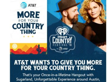 "iHeartCountry Festival by AT&T ""More for Your Country Thing"" Sweepstakes"
