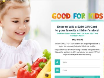 Win a $250 Online Gift Card