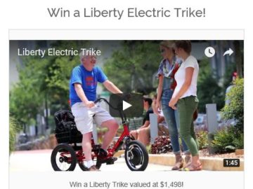 Win a Liberty Electric Trike