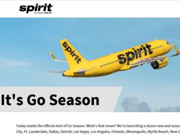 Spirit Airlines Go Season Giveaway Sweepstakes