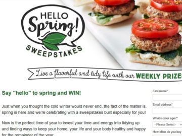 SUNSET HELLO SPRING! Sweepstakes