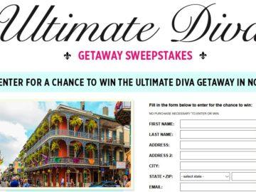 Cosmopolitan Ultimate Diva Getaway Sweepstakes