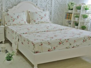 Win a Shabby Beige Floral Bed Twin Sheet Set