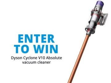Win a Dyson Cyclone V10 Absolute Vacuum!