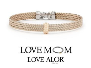 Win an 18kt Rose Gold Carnation Cable and Diamond Bangle