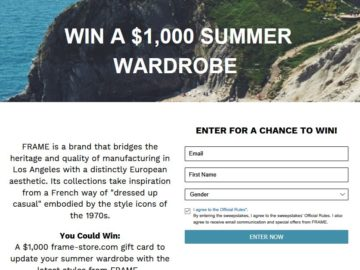 Win a $1,000 Frame-Store.com Gift Card