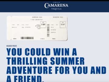 Camarena Reach for Adventure Sweepstakes and Instant Win