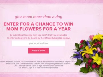 ProFlowers Win Mom a Year of Flowers Sweepstakes