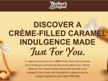 Werther's Just For You Sweepstakes