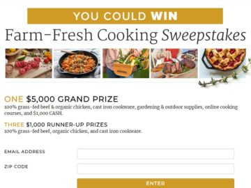 America's Test Kitchen Farm-Fresh Cooking Sweepstakes