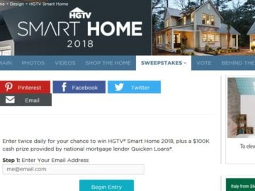 HGTV Smart Home 2018 Sweepstakes