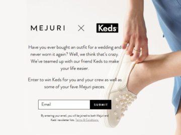 Keds and Mejuri Sweepstakes