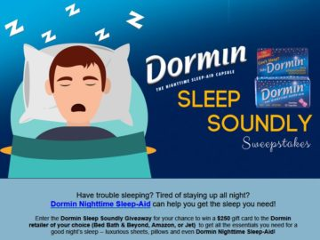 Dormin's Sleep Soundly Sweepstakes