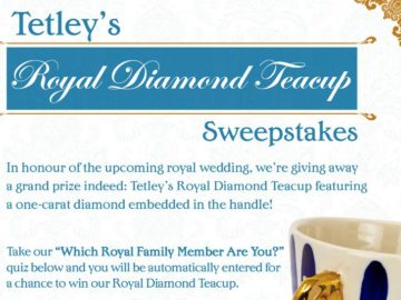 Tetley's Royal Diamond Teacup Sweepstakes (Facebook)