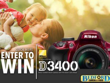 Win a Nikon D3400 Camera!