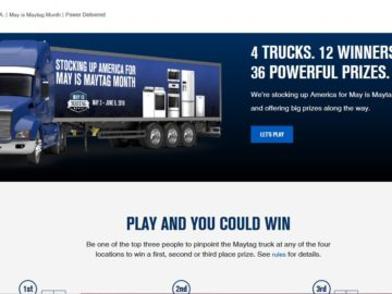 Maytag Whirlpool Power Delivered Sweepstakes
