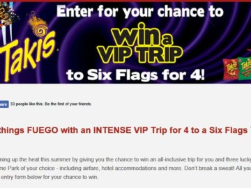 Six Flags Takis Flyaway Sweepstakes