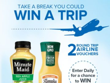 Minute Maid and Simply April/May Text to Win Instant Win Game