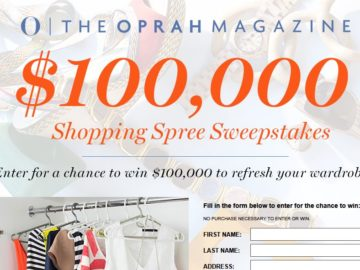 Enter to win $100,000 from Oprah!