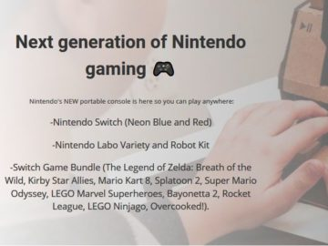 Win a Nintendo Switch Game Prize Package