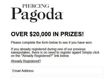 Instantly Win a $1,000 Piercing Pagoda Digital Gift Card