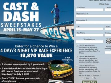Costa Del Mar Cast and Dash Sweepstakes