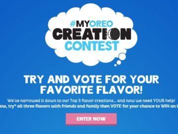 How to enter oreo contest