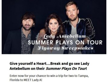 Lady antebellum summer plays on tour flyaway sweepstakes m4hsunfo
