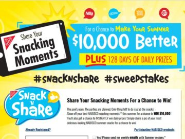 Nabisco Snack and Share Sweepstakes and Instant Win