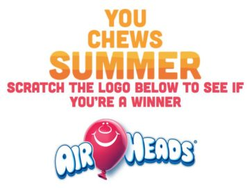 Airheads YouChews Summer Sweepstakes and Instant Win Game
