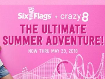 Crazy 8's Six Flags Sweepstakes
