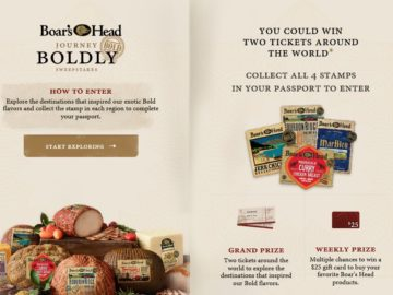 """Boar's Head """"Journey Boldly"""" Sweepstakes"""