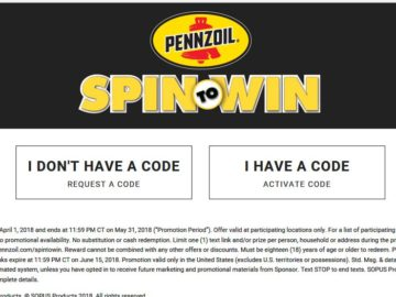 "Pennzoil ""Spin to Win"" Promotion"