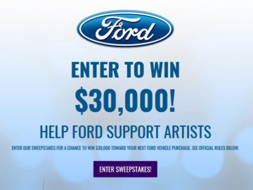 Win $30,000 towards a Ford Vehicle