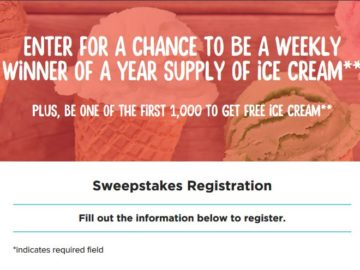 Unilever Summer Ice Cream Giveaway & Sweepstakes (Limited States)