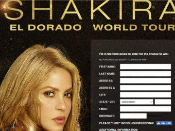 Good Housekeeping Shakira El Dorado World Tour Las Vegas Getaway Sweepstakes