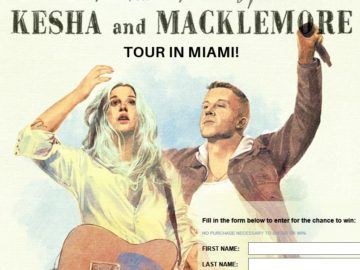 Cosmopolitan The Adventures of Kesha & Macklemore Miami Getaway Sweepstakes