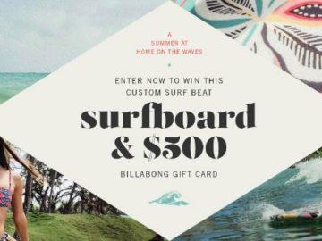 Win a Custom Surfboard and a $500 Billabong Gift Card