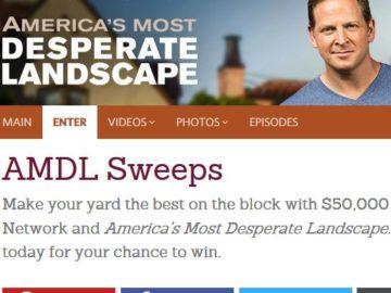 DIY Network America's Most Desperate Landscape Giveaway
