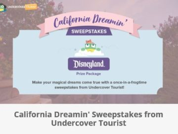 """Undercover Tourist's """"California Dreamin' Family Vacation"""" Sweepstakes"""